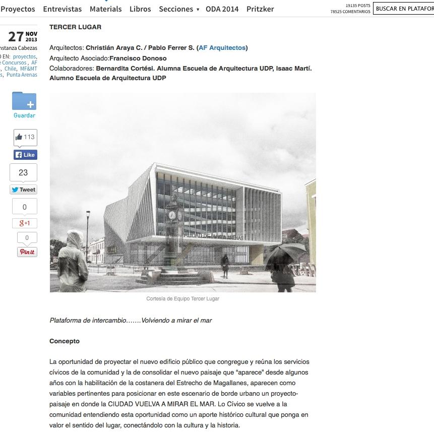 http://www.plataformaarquitectura.cl/2013/11/27/2-y-3-lugar-concurso-para-diseno-del-nuevo-edificio-consistorial-de-punta-arenas/