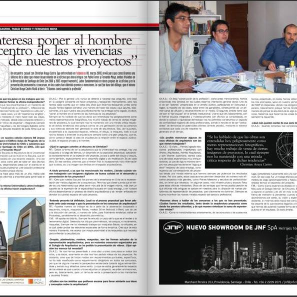 Publicación Revista TodoObras Nº 126. Estudio Araya Ferrer Moya Arquitectos http://www.todoobras.com/main.html