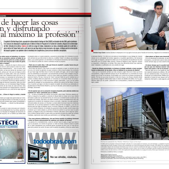 Publicación Revista TodoObras Nº 88. EstudioChristian Araya Arquitecto http://www.todoobras.com/main.html